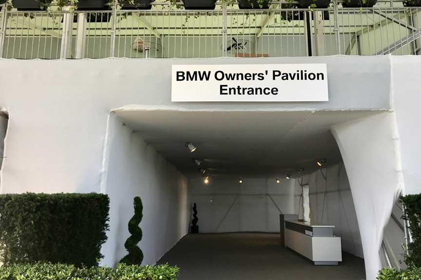BMW Championship - Owner's Pavilion Plant Design