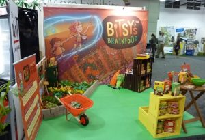 trade show booth done by Bitsy's Brainfood