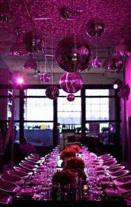 purple holiday decor
